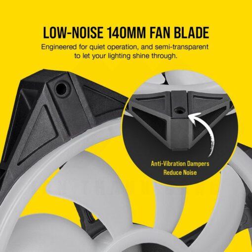 CORSAIR iCUE QL140 RGB Fan – Dual Fan Kit With Lightning Node CORE 6