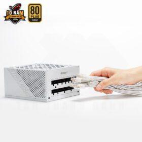 ASUS ROG Strix 850G White PSU – 850W 80Plus Gold Full Modular Sleeve Cable 8