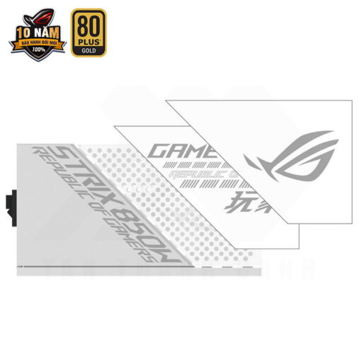 ASUS ROG Strix 850G White PSU – 850W 80Plus Gold Full Modular Sleeve Cable 9