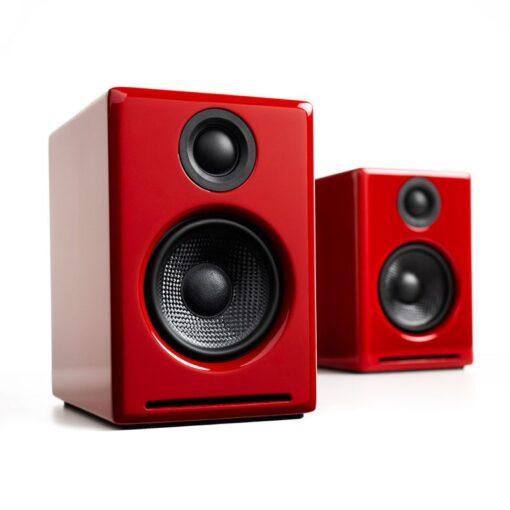 Audioengine A2 Wireless Speaker System – Red 1