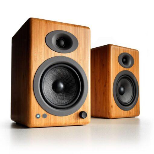 Audioengine A5 Wireless Speaker System – Bamboo 1