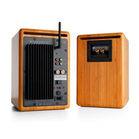 Audioengine A5 Wireless Speaker System – Bamboo 2