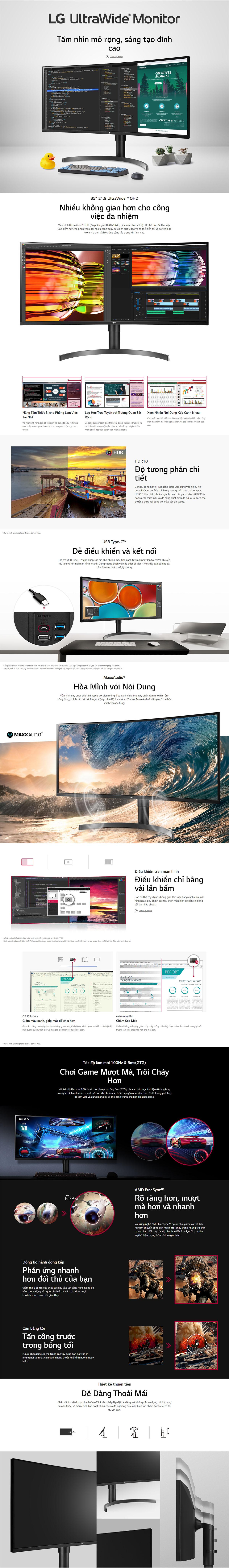 LG Ultrawide 35WN75C B Monitor Details 1200p