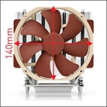 Noctua NH U14S TR4 SP3 CPU Cooler Details 3