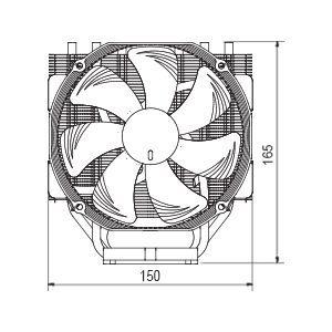 Noctua NH U14S TR4 SP3 CPU Cooler Details 7