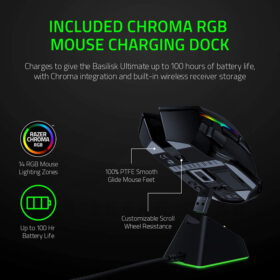 Razer Basilisk Ultimate HyperSpeed Wireless Gaming Mouse With Charging Dock 2