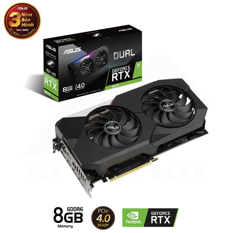 ASUS DUAL Geforce RTX 3070 8G Graphics Card 1