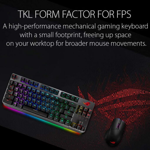 ASUS ROG Strix Scope TKL Gaming Keyboard – Cherry MX Red 2