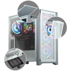 CORSAIR 4000D AIRFLOW Case – White 5