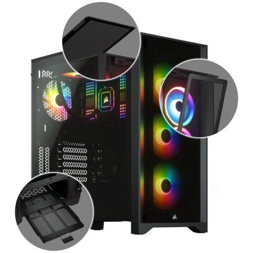 CORSAIR iCUE 4000X RGB Case Black 6