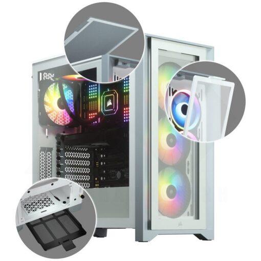 CORSAIR iCUE 4000X RGB Case White 5