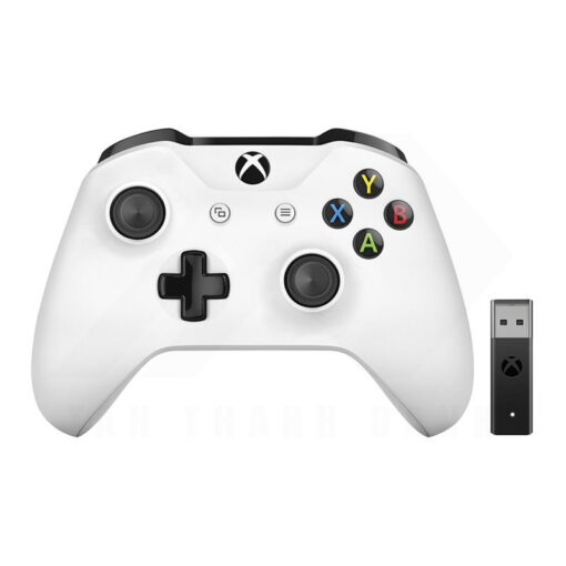 Microsoft Xbox One S Controller with Wireless Adapter for Windows 10 White