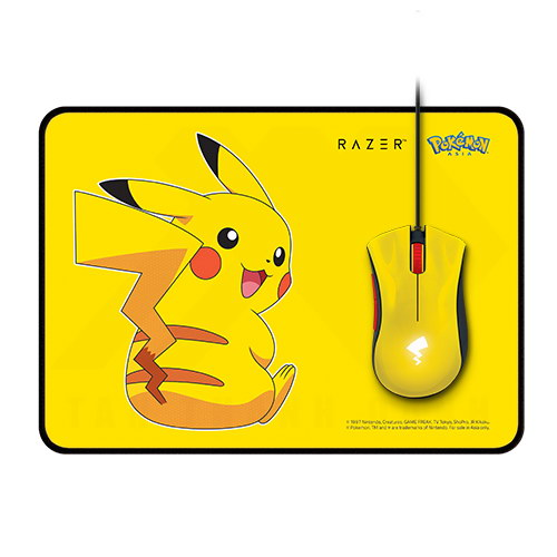 Razer Pokemon Series DeathAdder Essential Goliathus Speed Mouse Bundle – Pikachu Limited Edition