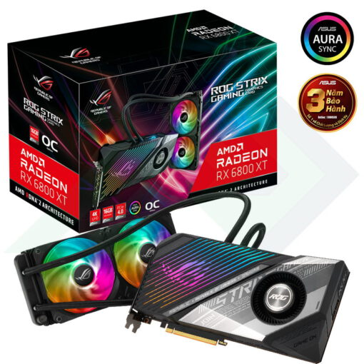 ASUS ROG Strix LC Radeon RX 6800 XT OC Edition 16G Liquid Cooled Graphics Card 0