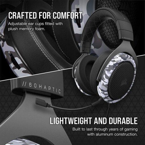 CORSAIR HS60 HAPTIC Gaming Headset – Camo 5