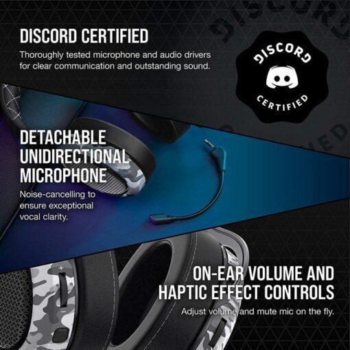CORSAIR HS60 HAPTIC Gaming Headset – Camo 6