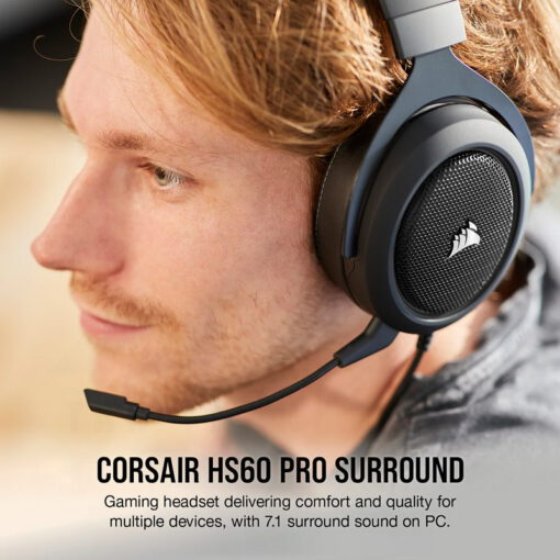 CORSAIR HS60 PRO SURROUND Gaming Headset Carbon 2