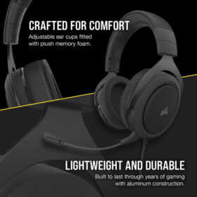 CORSAIR HS60 PRO SURROUND Gaming Headset Carbon 4