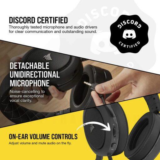 CORSAIR HS60 PRO SURROUND Gaming Headset Carbon 5