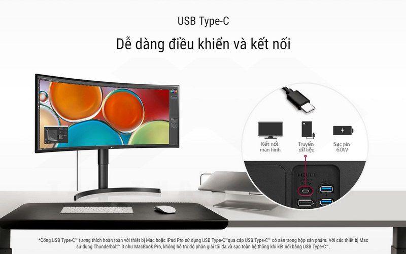 LG UltraWide 34WN80C B Curved Monitor Details 3