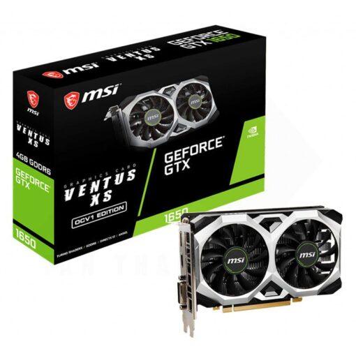 MSI Geforce GTX 1650 D6 VENTUS XS OCV1 4G Graphics Card 1