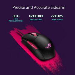 ASUS ROG Strix Impact II Electro Punk Gaming Mouse 3