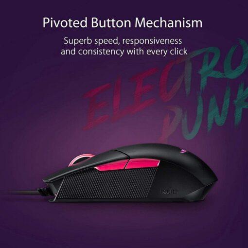ASUS ROG Strix Impact II Electro Punk Gaming Mouse 4