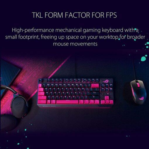 ASUS ROG Strix Scope TKL Electro Punk Gaming Keyboard 2