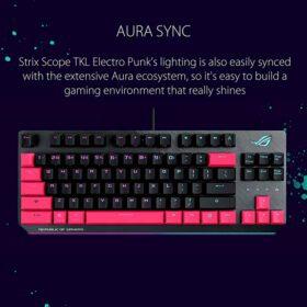 ASUS ROG Strix Scope TKL Electro Punk Gaming Keyboard 4