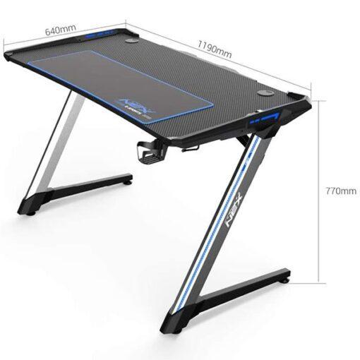 DXRacer NEX Computer Gaming Desk – Black Blue 3