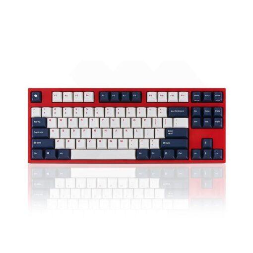 Leopold FC750R PD White Blue Star Keyboard 1