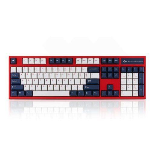 Leopold FC900R PD White Blue Star Keyboard 1