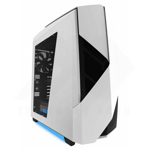 NZXT NOCTIS 450 Case – Glossy White Blue 1
