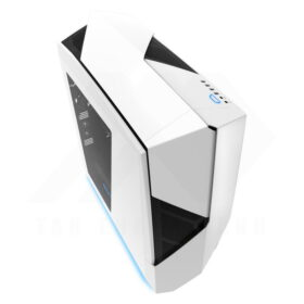 NZXT NOCTIS 450 Case – Glossy White Blue 2