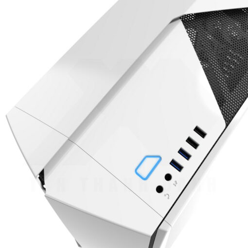 NZXT NOCTIS 450 Case – Glossy White Blue 3