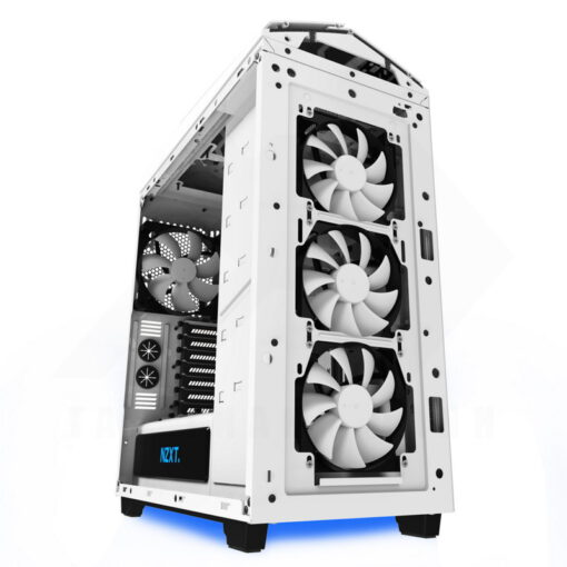 NZXT NOCTIS 450 Case – Glossy White Blue 5