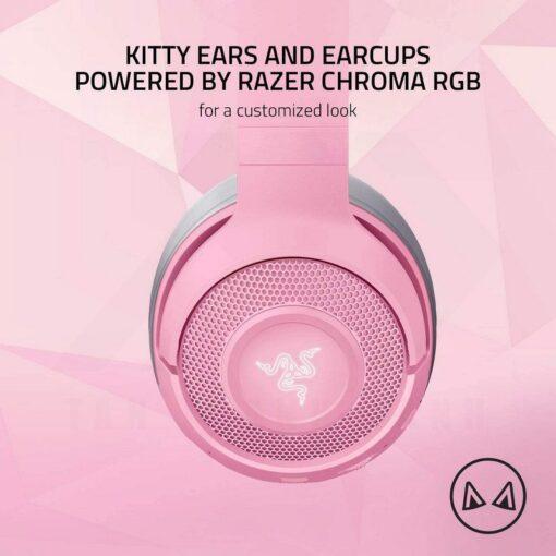 Razer Kraken BT Kitty Edition Headset Quartz Pink 2