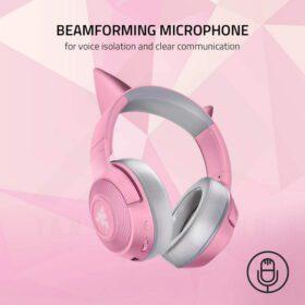 Razer Kraken BT Kitty Edition Headset Quartz Pink 6
