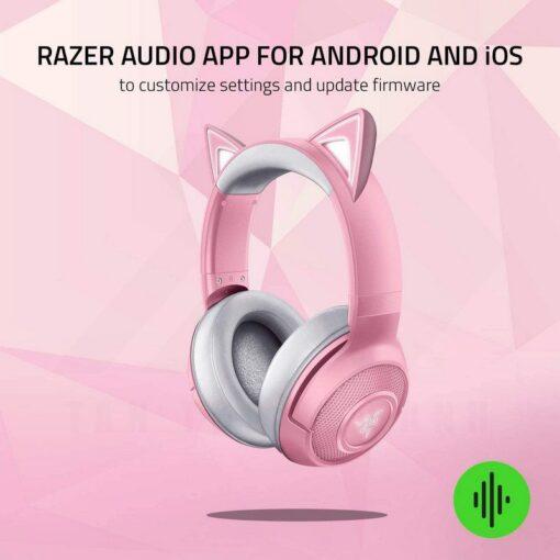 Razer Kraken BT Kitty Edition Headset Quartz Pink 7