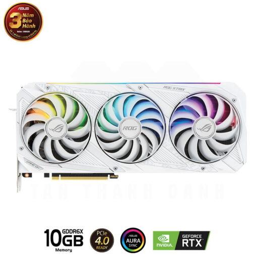 ASUS ROG Strix Geforce RTX 3080 OC WHITE Edition 10G Gaming Graphics Card 2