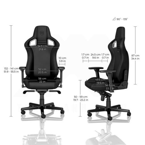 Noblechairs EPIC Gaming Chair – Black Edition Vinyl PU hybrid leather 3