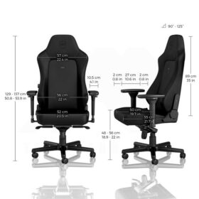 Noblechairs HERO Gaming Chair – Black Edition Vinyl PU hybrid leather 3