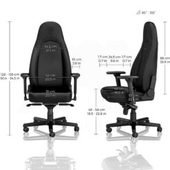 Noblechairs ICON Gaming Chair – Black Edition Vinyl PU hybrid leather 3