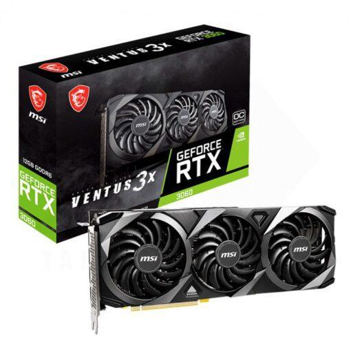MSI Geforce RTX 3060 VENTUS 3X OC 12G Graphics Card 1