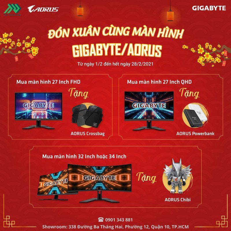 TTD Promotion 202102 KhuyenMaiManHinhAorusGigabyteTet Details