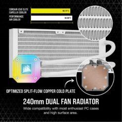 CORSAIR iCUE H100i ELITE CAPELLIX WHITE Liquid CPU Cooler 3
