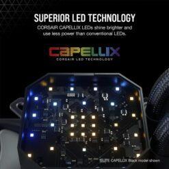 CORSAIR iCUE H100i ELITE CAPELLIX WHITE Liquid CPU Cooler 8