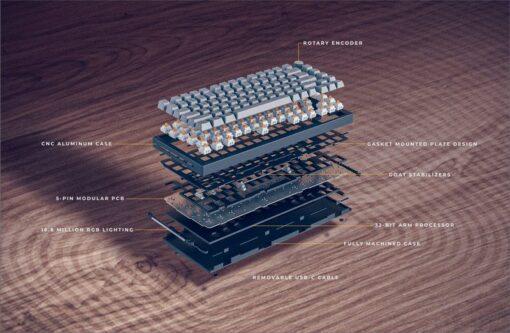 Glorious GMMK Pro Custom Build Keyboard – Black Slate 6