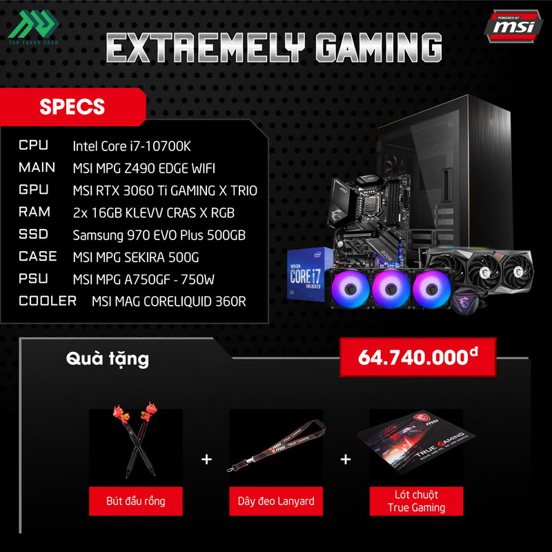 MSI Extreme Gaming PC Specs