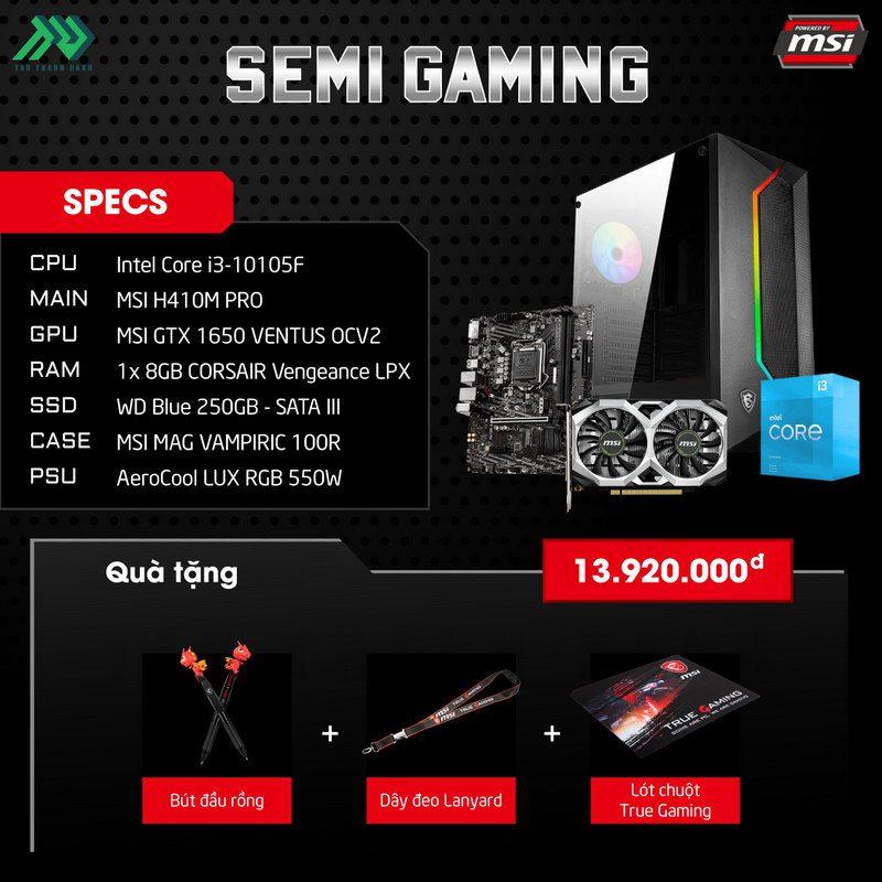 MSI Semi Gaming PC Specs